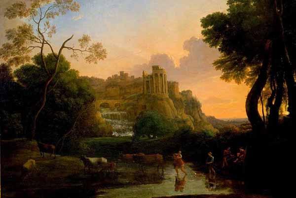 Claude Lorrain Vista ideale di Tivoli
